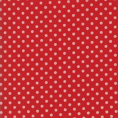 Moda Fabrics ~ Hop, Skip and a Jump ~ Ditsy Daisy Cherry
