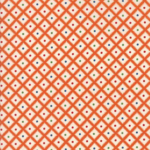 Moda Fabrics ~ Hop, Skip and a Jump ~ Picnic Basket Tangerine