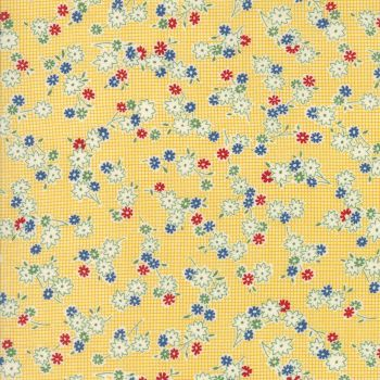 Moda Fabrics ~ Hop, Skip and a Jump ~ Playful Posies Sunshine