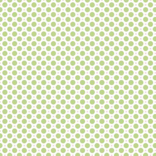 Riley Blake Fabric ~ Sew Cherry 2 ~ Circle Green