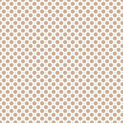 Riley Blake Fabric ~ Sew Cherry 2 ~ Circle Nutmeg