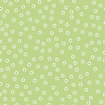 Riley Blake Fabric ~ Sew Cherry 2 ~ Daisy Green