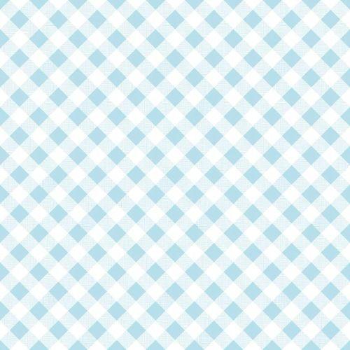 Riley Blake Fabric ~ Sew Cherry 2 ~ Gingham Aqua