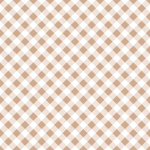 Riley Blake Fabric ~ Sew Cherry 2 ~ Gingham Nutmeg
