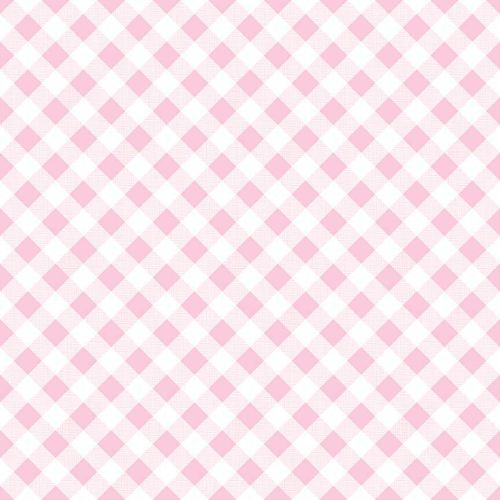 Riley Blake Fabric ~ Sew Cherry 2 ~ Gingham Pink