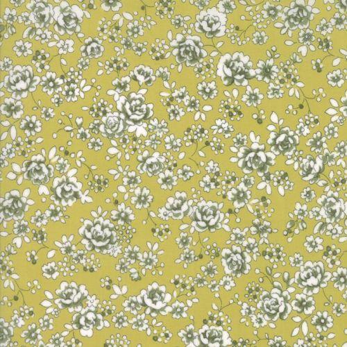 Moda Fabric ~ Regent Street Lawns ~ Claremount Leaf Green