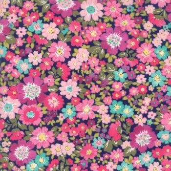 Moda Fabric ~ Regent Street Lawns ~ Hampton Court Navy