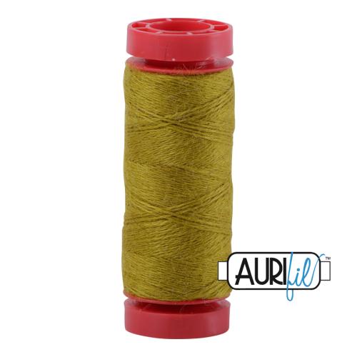Aurifil ~ 12 wt Lana Wool ~ 8965 ~ Citron Green