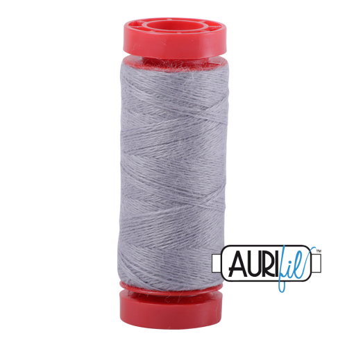 Aurifil ~ 12 wt Lana Wool ~ 8608 ~ Cloud Grey