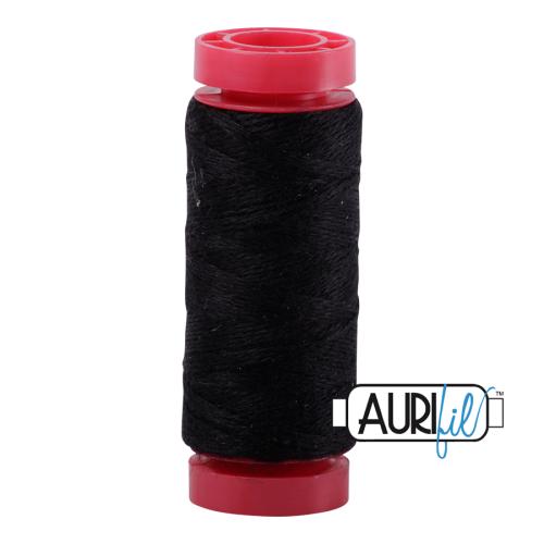 Aurifil ~ 12 wt Lana Wool ~ 8692 ~ Black
