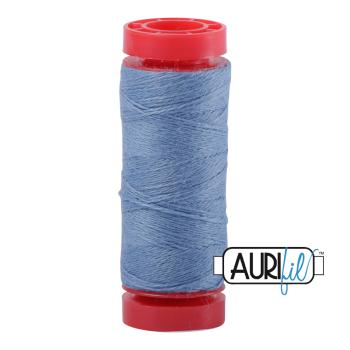 Aurifil ~ 12 wt Lana Wool ~ 8762 ~ Mid Blue
