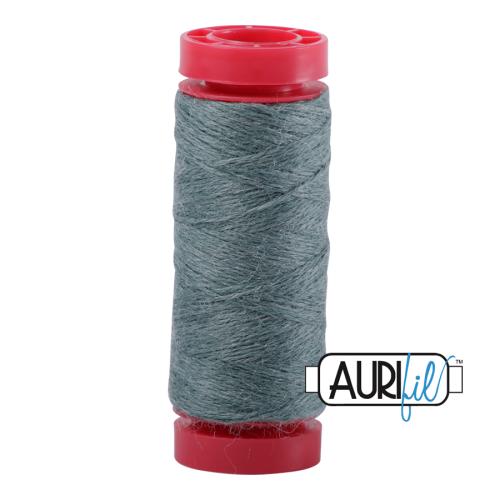 Aurifil ~ 12 wt Lana Wool ~ 8886 ~  Heathered Mist