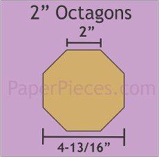 Patchwork Paper Pieces ~ Octagon 2