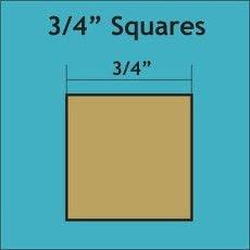 "Patchwork Paper Pieces ~ Square 3/4"""