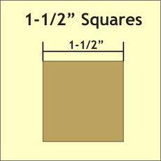 "Patchwork Paper Pieces ~ Square 1 1/2"""