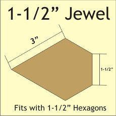 """Patchwork Paper Pieces ~ Jewel 1 1/2"""""""