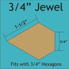 Patchwork Paper Pieces ~ Jewel 3/4