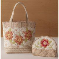Lecien ~ One Step Quilts ~ Handbag and Pouch Brown