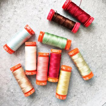 Aurifil ~ Sarah Selects Set ~ A Little Happy Christmas BOM
