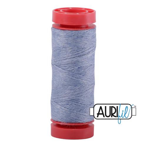 Aurifil ~ 12 wt Lana Wool ~ 8757 ~ Heathered Light Blue/Grey
