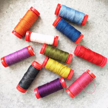 Aurifil ~ Sarah Selects Set ~ A Little Happy Sew Along 'Home Sweet Home'