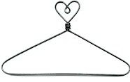 "12"" Heart Wire Hanger and Pegs"