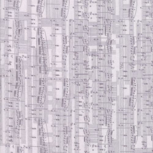 Moda Fabric ~ Compositions ~ Notes Grey