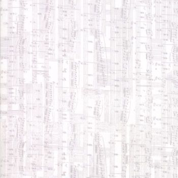 Moda Fabric ~ Compositions ~ Notes White