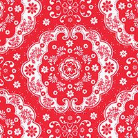 Lecien Fabric ~ Flower Sugar ~ Doily Floral Red
