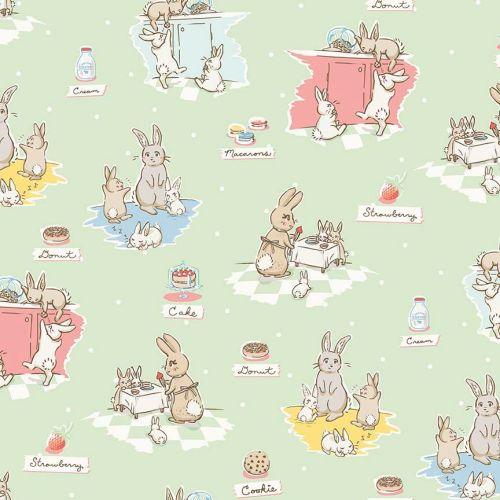 Penny Rose Fabrics ~ Bunnies & Cream ~ Main Mint