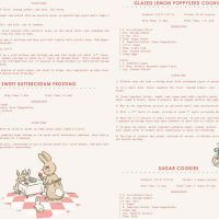 Penny Rose Fabrics ~ Bunnies & Cream ~ Recipes Pink