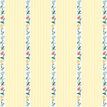 Penny Rose Fabrics ~ Bunnies & Cream ~ Stripe Yellow
