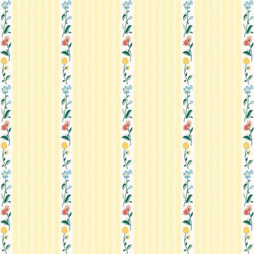 Penny Rose Fabrics ~ Bunnies & Cream ~ Stripe Yellow
