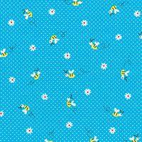 Lecien Fabric ~ Mini Muu ~ Bees Turquoise