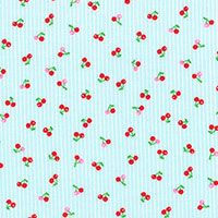 Lecien Fabric ~ Mini Muu ~ Cherries Blue