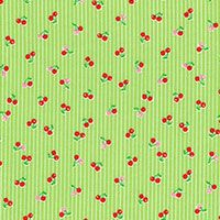 Lecien Fabric ~ Mini Muu ~ Cherries Green