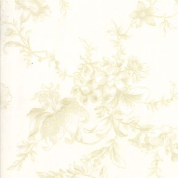 "Moda Fabrics ~ Poetry ~ 108"" Wide Romantic Blooms Porcelain (HALF METRE)"