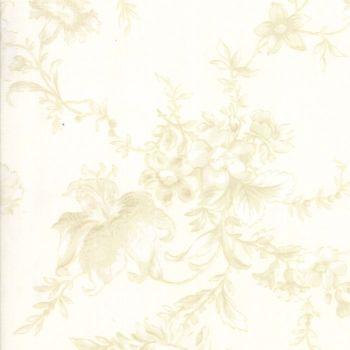 "Moda Fabrics ~ Poetry ~ 108"" Wide Romantic Blooms Porcelain (HALF METRE)"