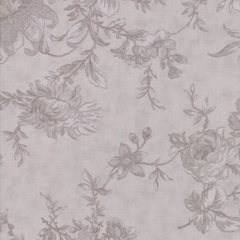 "Moda Fabrics ~ Poetry ~ 108"" Wide Romantic Blooms Stone (HALF METRE)"