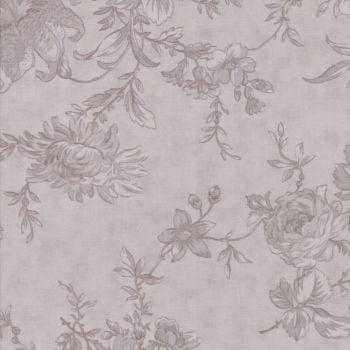 """Moda Fabrics ~ Poetry ~ 108"""" Wide Romantic Blooms Stone (HALF METRE)"""