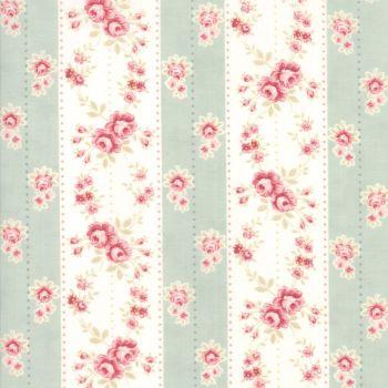 Moda Fabrics ~ Poetry ~ Rosebud Stripe Mist