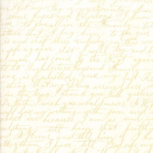 Moda Fabrics ~ Poetry ~ Script Porcelain