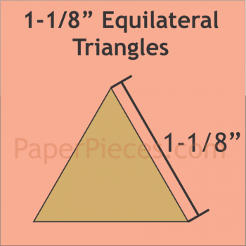Patchwork Paper Pieces ~ Equilateral Triangle 1 1/8""