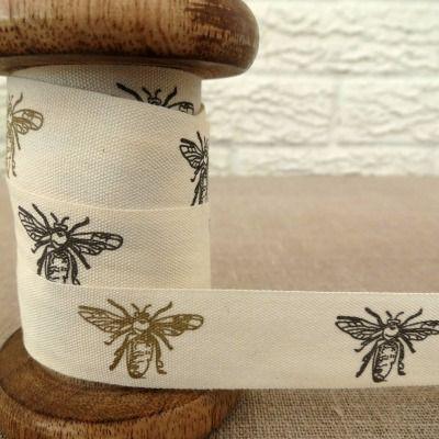May Arts Cotton Ribbon ~ Bees