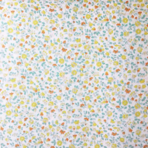 Sevenberry Fabric ~ Little Leaves and Flowers Yellow