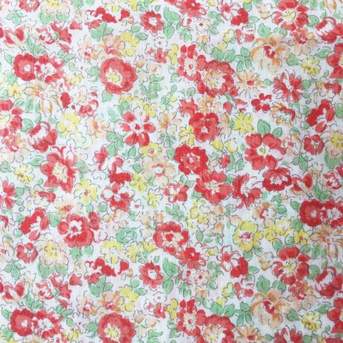 Sevenberry Fabric ~ Blooms Coral