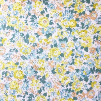 Sevenberry Fabric ~ Blooms Yellow and Blue