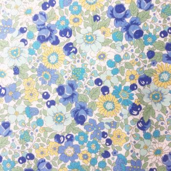 Sevenberry Fabric ~ Blossoms and Berries Blue