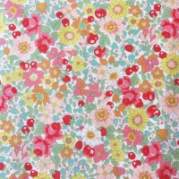 Sevenberry Fabric ~ Blossoms and Berries Coral
