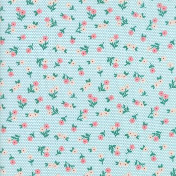Moda Fabrics ~ Sugar Pie ~ Posies Aqua